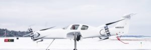 Experimental Ava aircraft taxis on runway